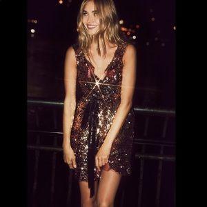 Free People Siren Sequin Tribeca Dress sz 0
